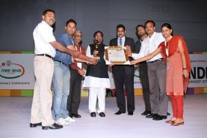 eIndia 2012 Award to Mother Project